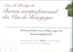 Domaine Raquillet BIVB cave prestige